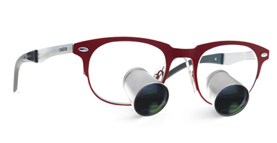 Loupes with red handles